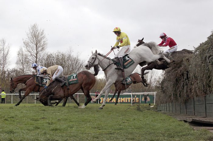 Bechers Brook fence at Grand National