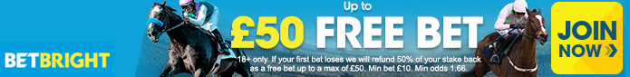 up to £50 free bet