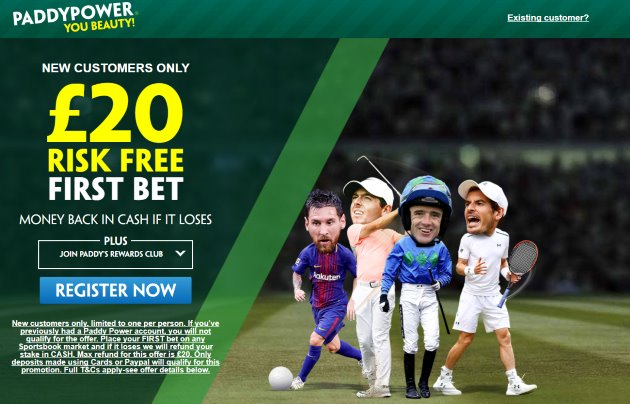 Paddy Power Risk Free Free Bet