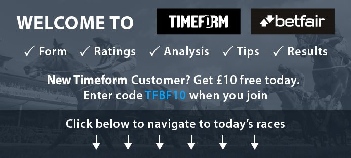Welcome to Timeform Betfair - click below to navigate to today's races