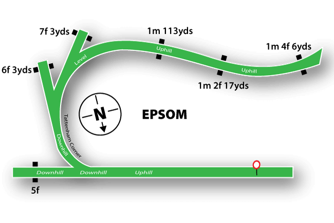 Epsom Downs map