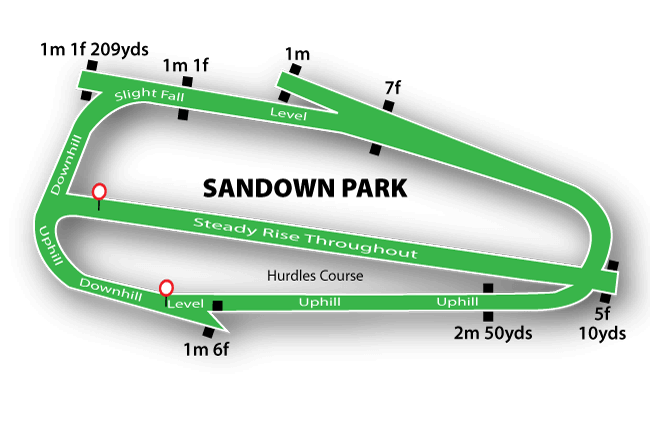 Sandown Park map