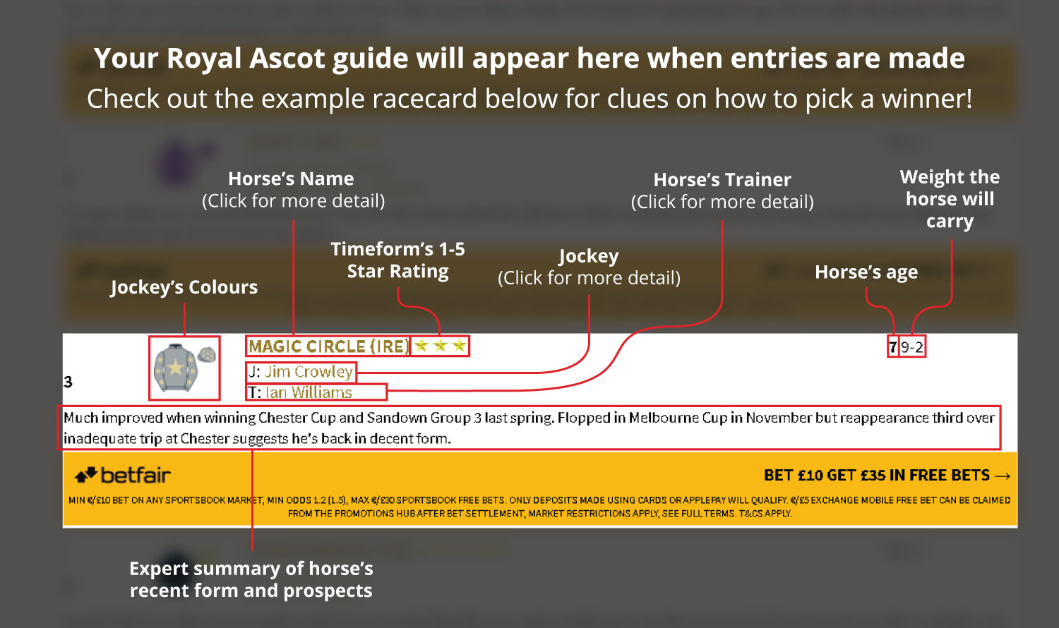 King george stakes betting lines how old to bet on sports online